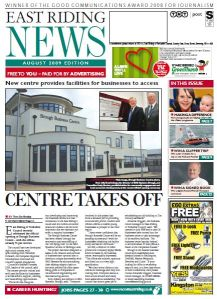 East Riding News August 2009 - Cover