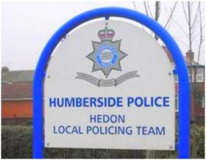 Hedon Police Station Sign