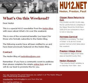 E-mail Newsletter #1