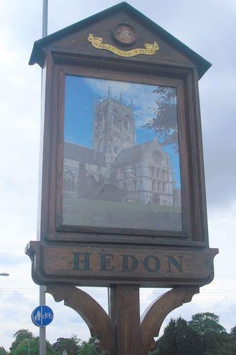 Hedon Town Sign