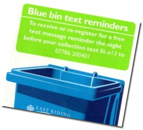 Blue Bin Text Service