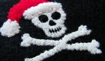 Pirate Christmas Flag