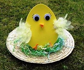 Easter chicken bonnet
