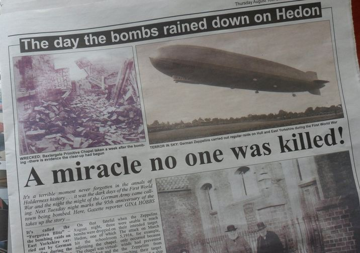 95th Anniversary of Zeppelin Raid - The Gazette 16th August 2012