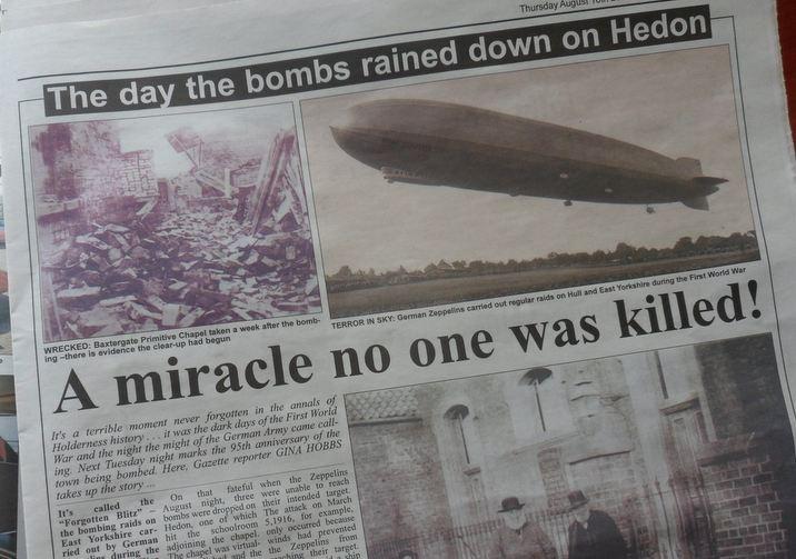 95th Anniversary of Zeppelin Raid - The Gazette 16th August 2012