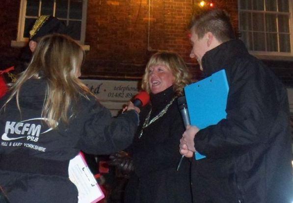 Madam Mayoress Sue Lindop is interviewed by KCFM