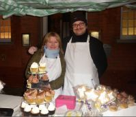 Lucy and Stuart Beal - Lucy is a cake-maker from Preston and almost sold out at Hedon Christmas lights night!
