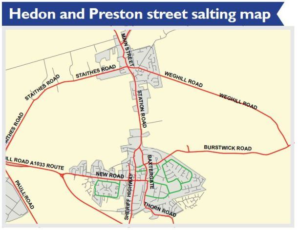 Hedon and Preston Street Sating Map