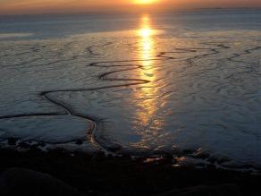 Sunset - Paull sands on foreshore