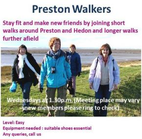 Walking group welcomes new members