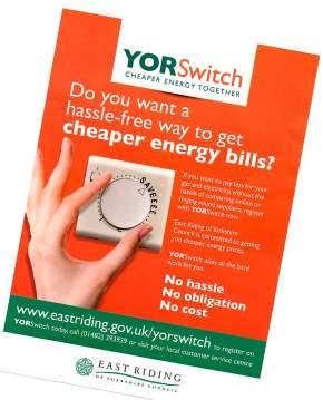 YORSwitch: Cheaper Energy Together scheme – explained at Hedon Library