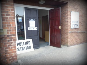 Polling Station waiting for your vote today!