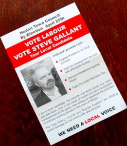 Steve Gallant leaflet