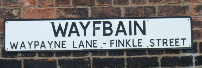 WAYFBAIN street name sign