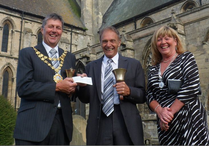 Hand bells appeal cheque presentation