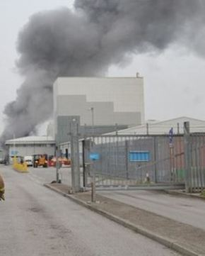 Fire at Saltend Waste Water Treatment Works