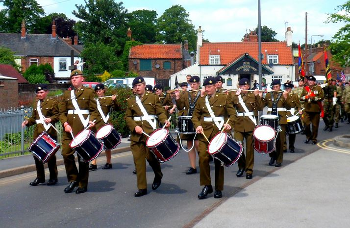 Army Cadets Band 2013 leading parade