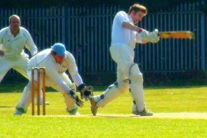 Cricket batting action