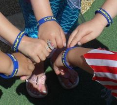 Hedon Nursery Outstanding Ofsted wristbands