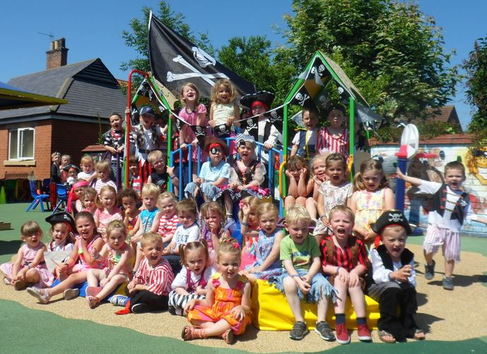 Hedon Nursery Pirate celebration