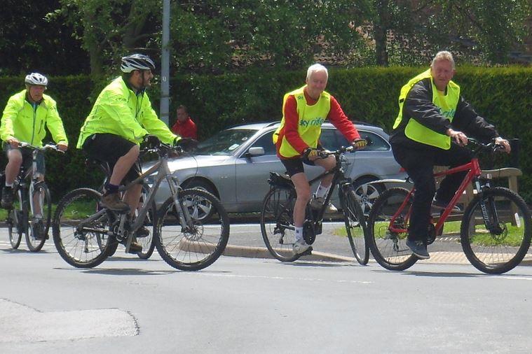 Sky Bike Ride leaving Hedon