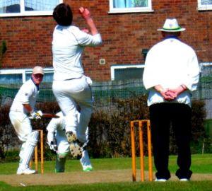 Close up Malc Ripley umpire cricket photo