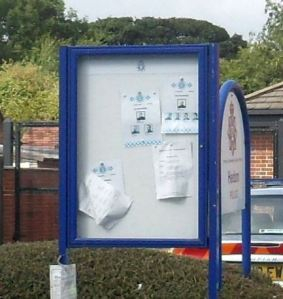Police notice board 21st August 2013