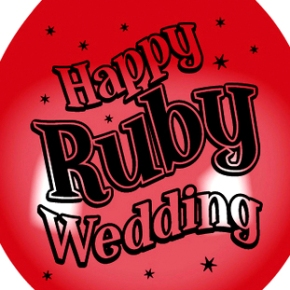Congratulations on Ruby Wedding!