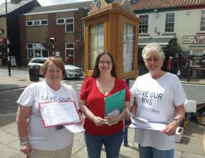 """Save Our Local NHS"" campaign in Hedon"