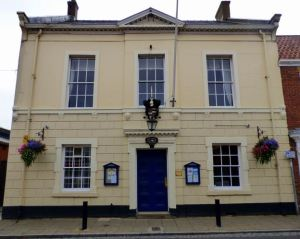 Hedon Town Hall - built in  1692 - Council meets in the Chamber through the doors and up the stairs. Just walk in!