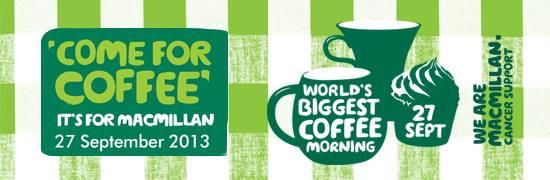 Macmillan Coffee Morning banner