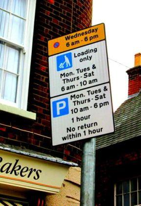 Market Hill Car Park sign for Market Day 2