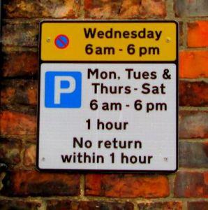 Market Hill Car Park sign for Market Day