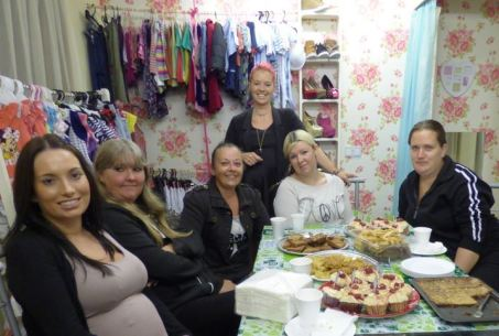 Tea party at Sweetpea Boutique