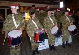 How many Cadet drummers drumming?