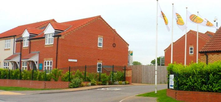 Entrance to Holderness Grange Lifestyle Village on Drapers Lane, Hedon