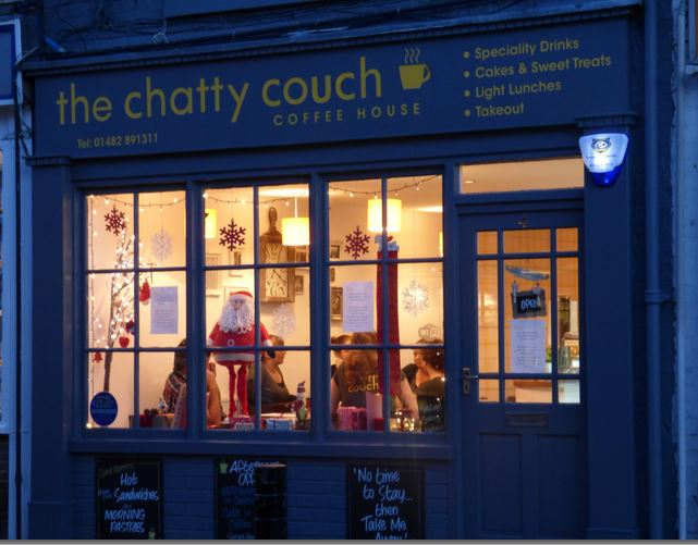 the chatty couch - made up for Christmas