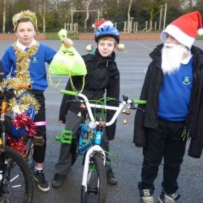 Brilliant Bikes and Santa Scooters at Hedon Primary School!
