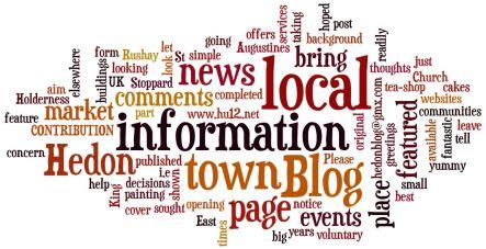 Wordle - About Hedon Blog