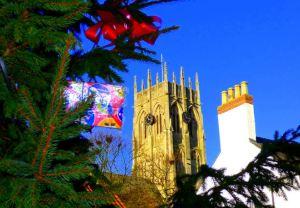 Christmas Tree 2013 framing Church