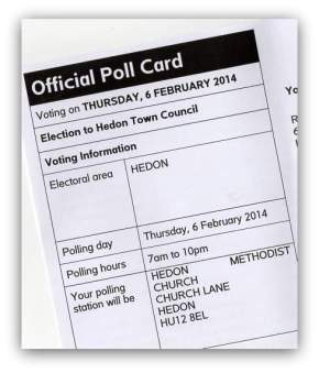 Postal Votes Deadline – by 5pm, Wednesday 22nd January 2014