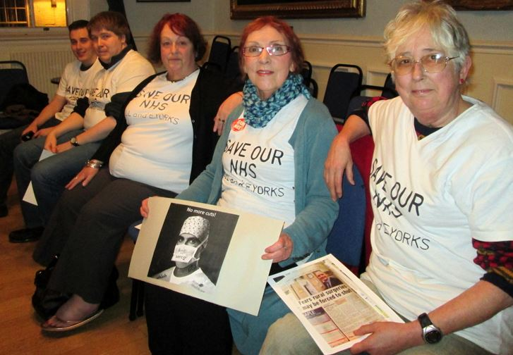 NHS campaigners at Hedon Town Council