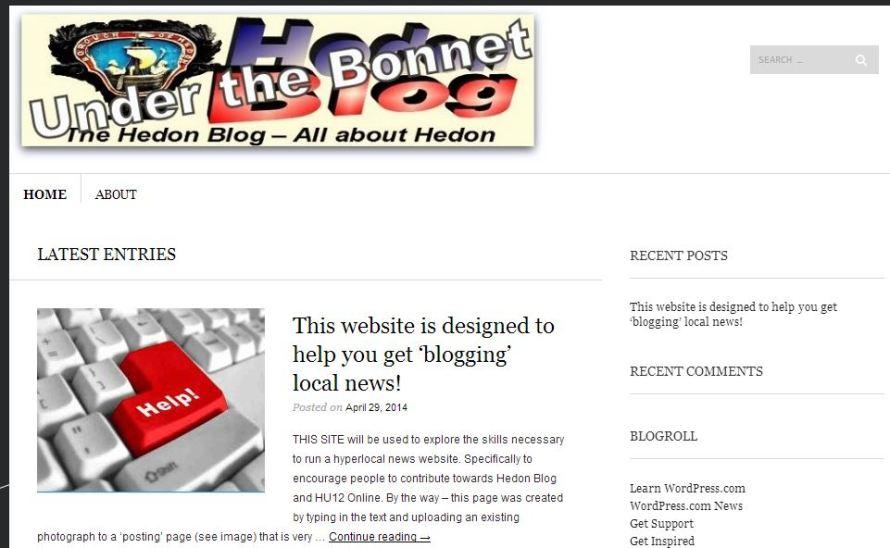 website snip
