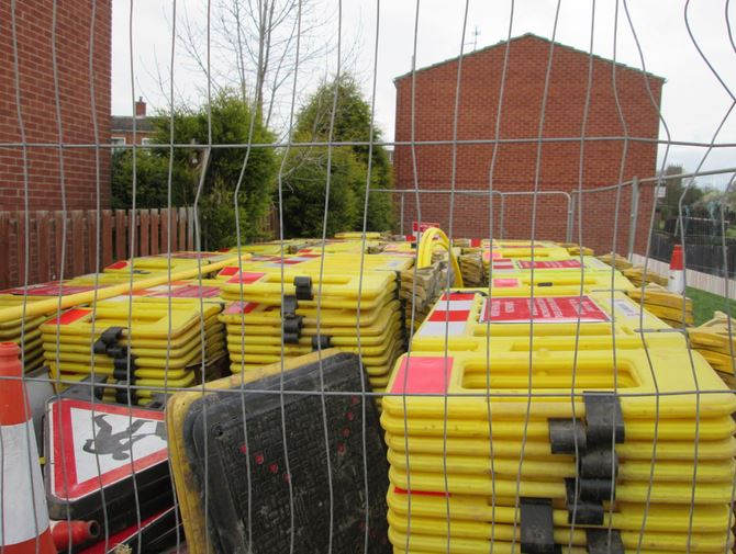 Yellow fences stashed away for Easter