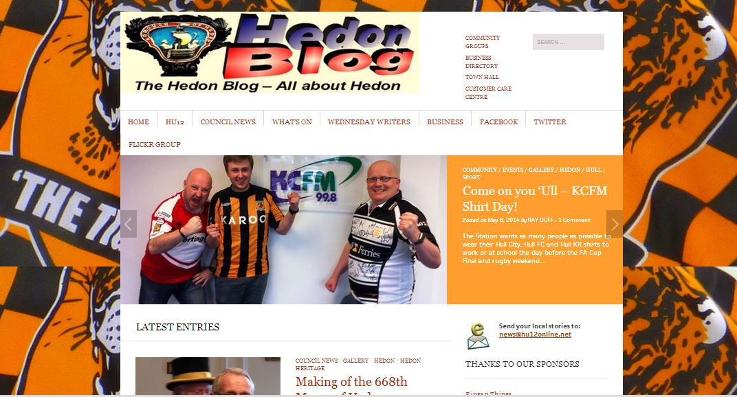 Hedon Blog dressed-up for Hull City