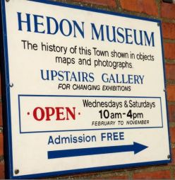 Hedon Museum sign May 2014