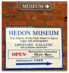 Hedon Museum Sign sq