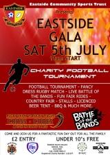 Eastside Gala Poster black writing