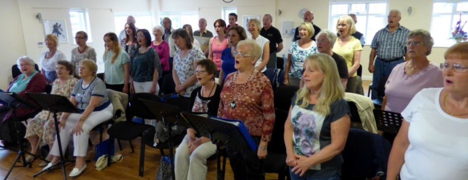 Holderness Grange Choir rehearsal