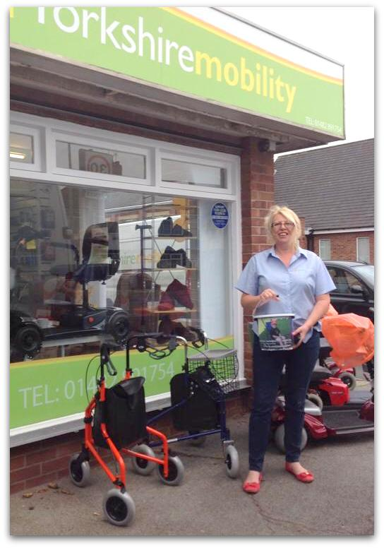 Cheryl Jones at Yorkshire Mobility supporting Lewis Campaign